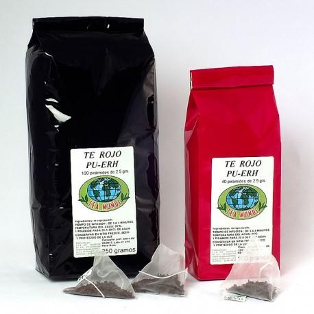 Pirámides té rojo pu-erh