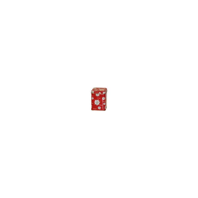 Lata Edelweiss roja cuadrada 125 gr